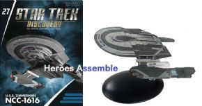 Star Trek Discovery Starships Collection #27 USS Zimmerman NCC-1616 Eaglemoss